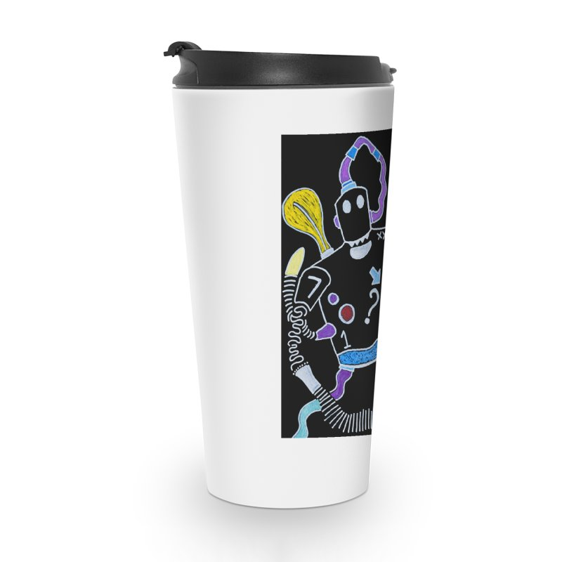 Robot Love Accessories Travel Mug by Baston's T-Shirt Emporium!