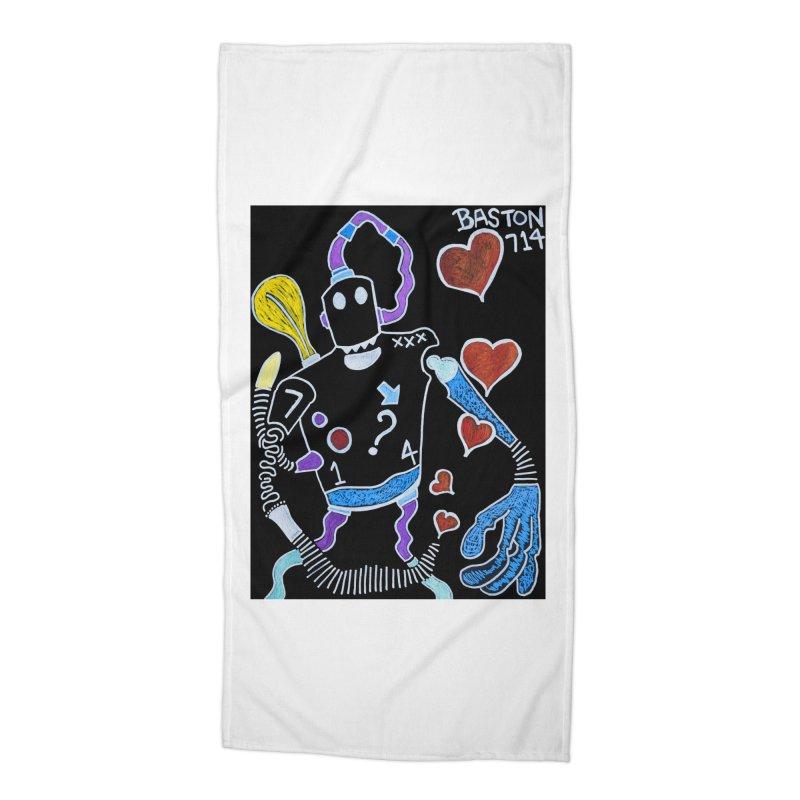 Robot Love Accessories Beach Towel by Baston's T-Shirt Emporium!