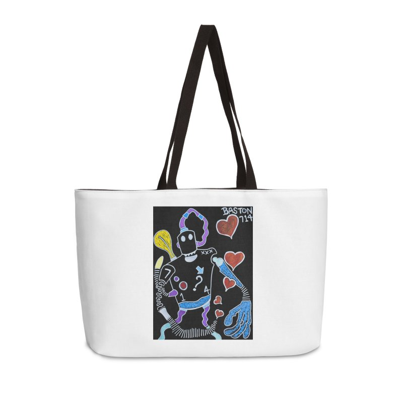 Robot Love Accessories Weekender Bag Bag by Baston's T-Shirt Emporium!