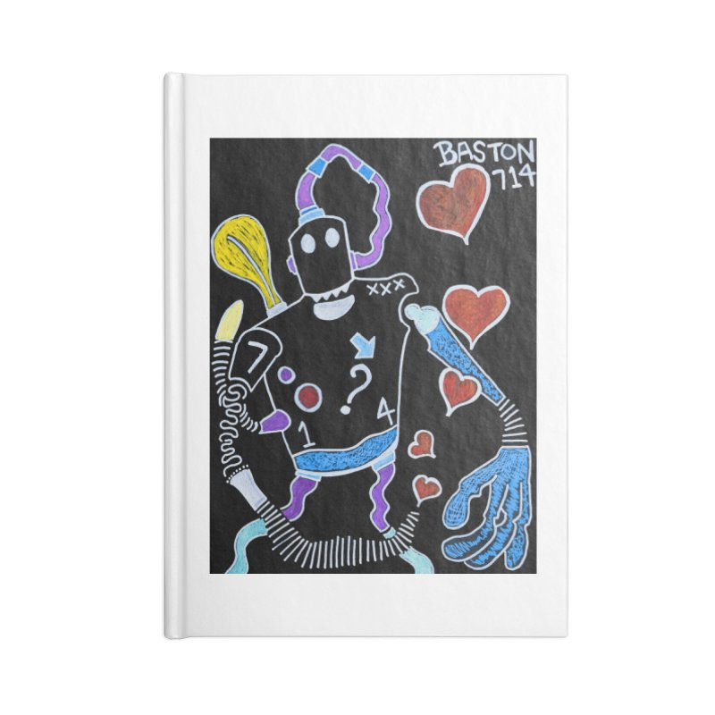 Robot Love Accessories Blank Journal Notebook by Baston's T-Shirt Emporium!