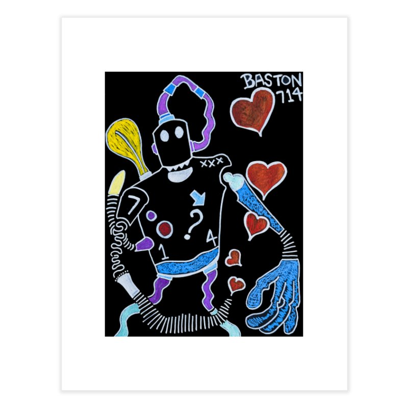 Robot Love Home Fine Art Print by Baston's T-Shirt Emporium!