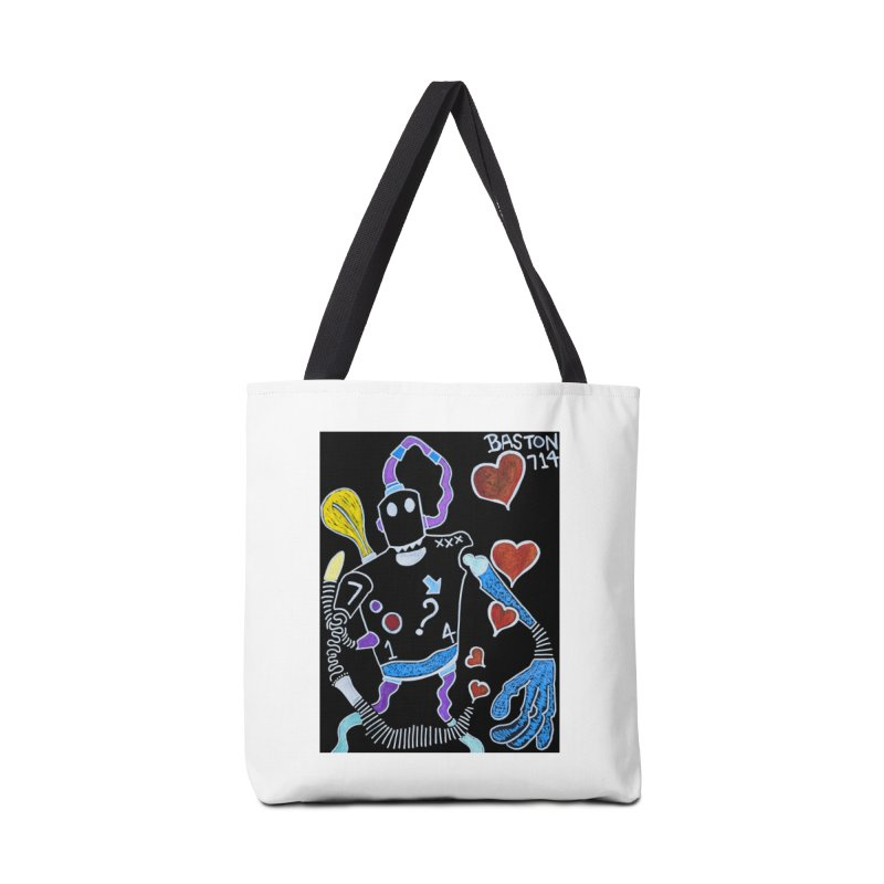 Robot Love Accessories Tote Bag Bag by Baston's T-Shirt Emporium!