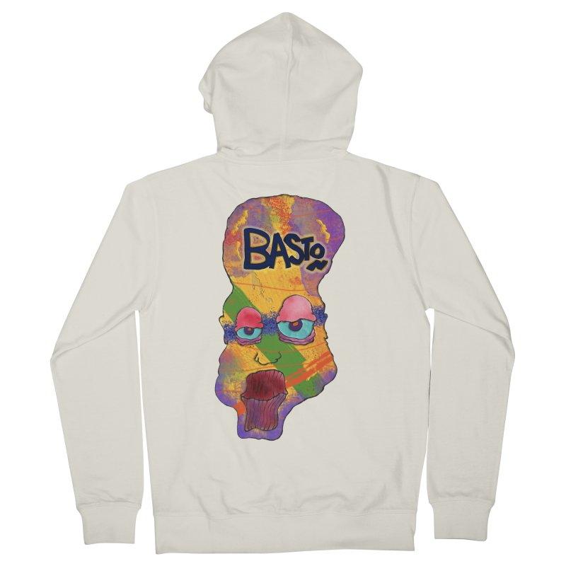 Big Head! Women's French Terry Zip-Up Hoody by Baston's T-Shirt Emporium!