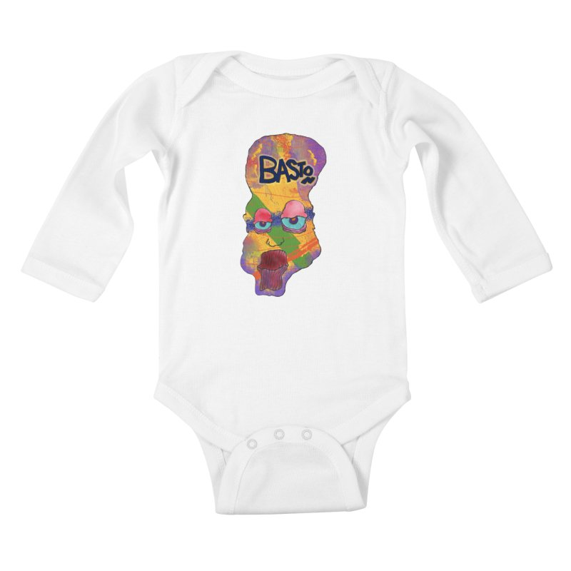 Big Head! Kids Baby Longsleeve Bodysuit by Baston's T-Shirt Emporium!