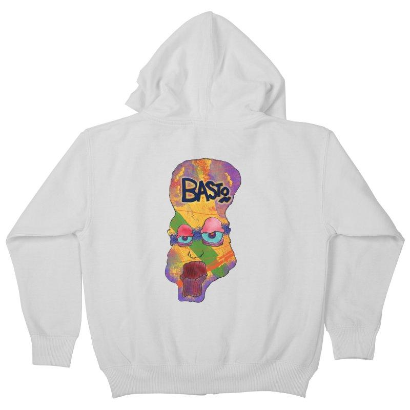 Big Head! Kids Zip-Up Hoody by Baston's T-Shirt Emporium!