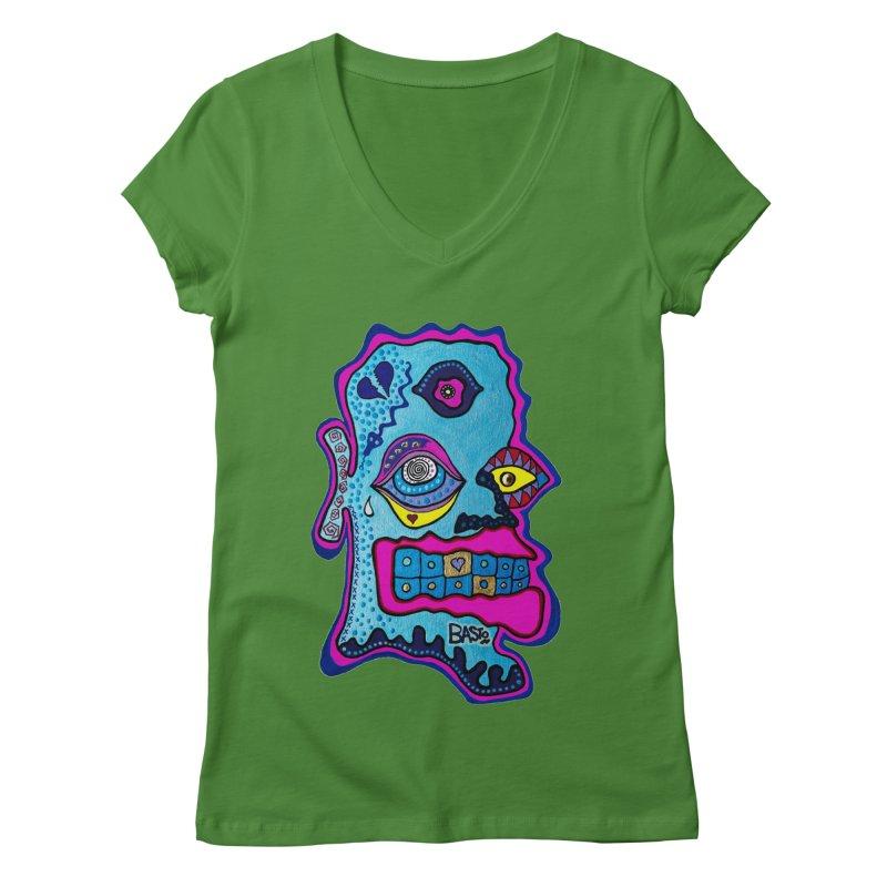 Baston De La Selva Women's Regular V-Neck by Baston's T-Shirt Emporium!