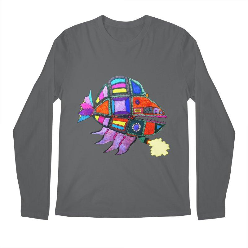 MECHANO FISH RAINBOW Men's Longsleeve T-Shirt by Baston's T-Shirt Emporium!