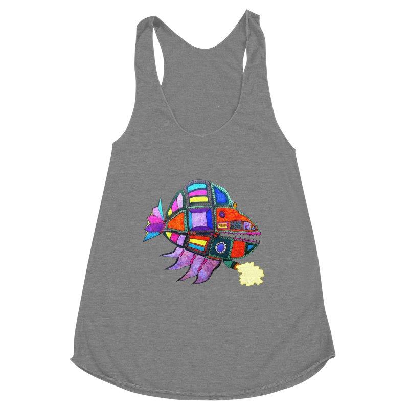 MECHANO FISH RAINBOW Women's Tank by Baston's T-Shirt Emporium!