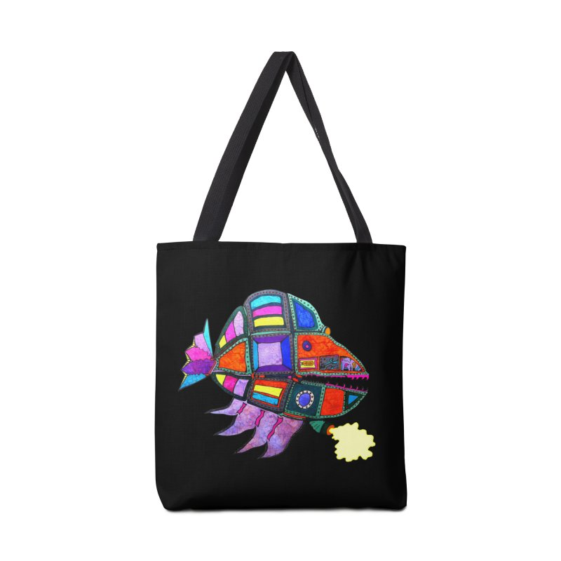 MECHANO FISH RAINBOW Accessories Bag by Baston's T-Shirt Emporium!