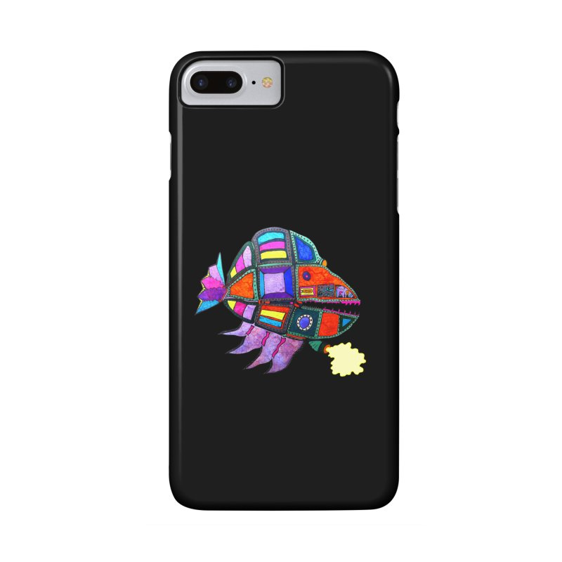 MECHANO FISH RAINBOW Accessories Phone Case by Baston's T-Shirt Emporium!