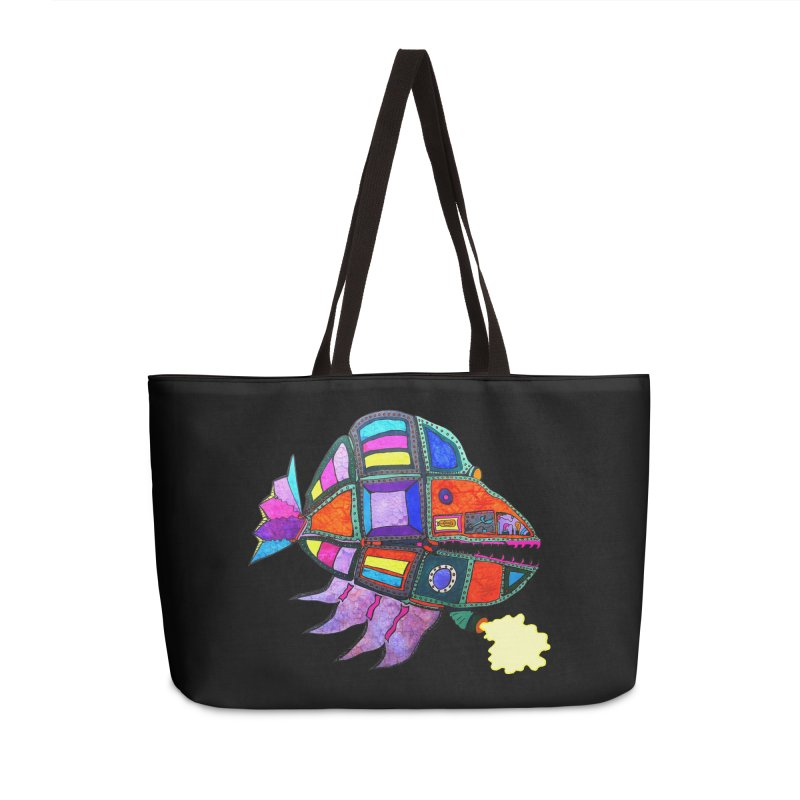 MECHANO FISH RAINBOW Accessories Bag by Baston's T-Shirt Emporium!