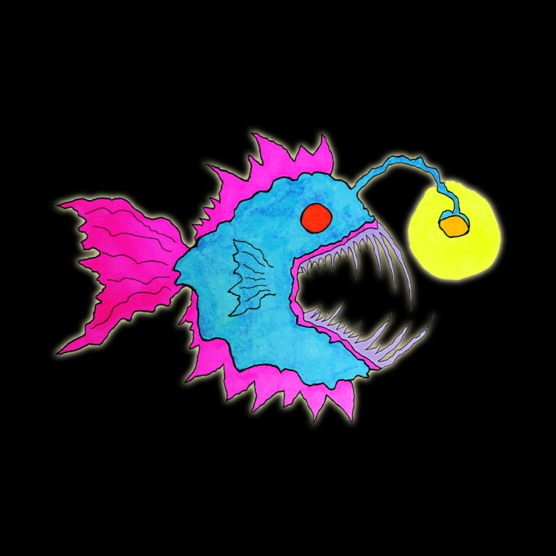 NEON LANTERN FISH None  by Baston's T-Shirt Emporium!