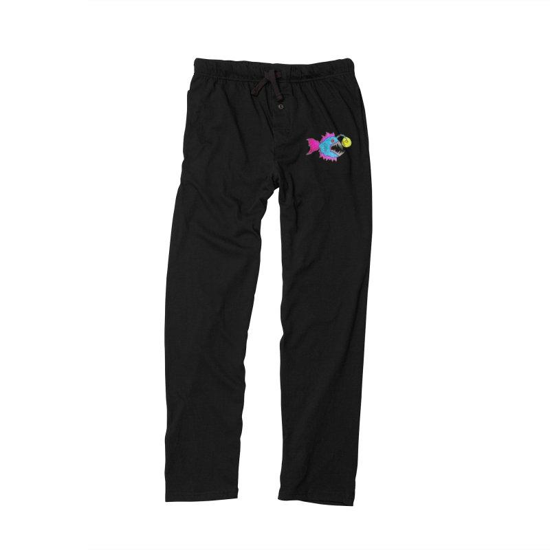 NEON LANTERN FISH Men's Lounge Pants by Baston's T-Shirt Emporium!