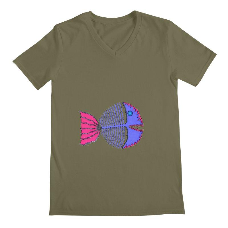 BoneFish Men's V-Neck by Baston's T-Shirt Emporium!