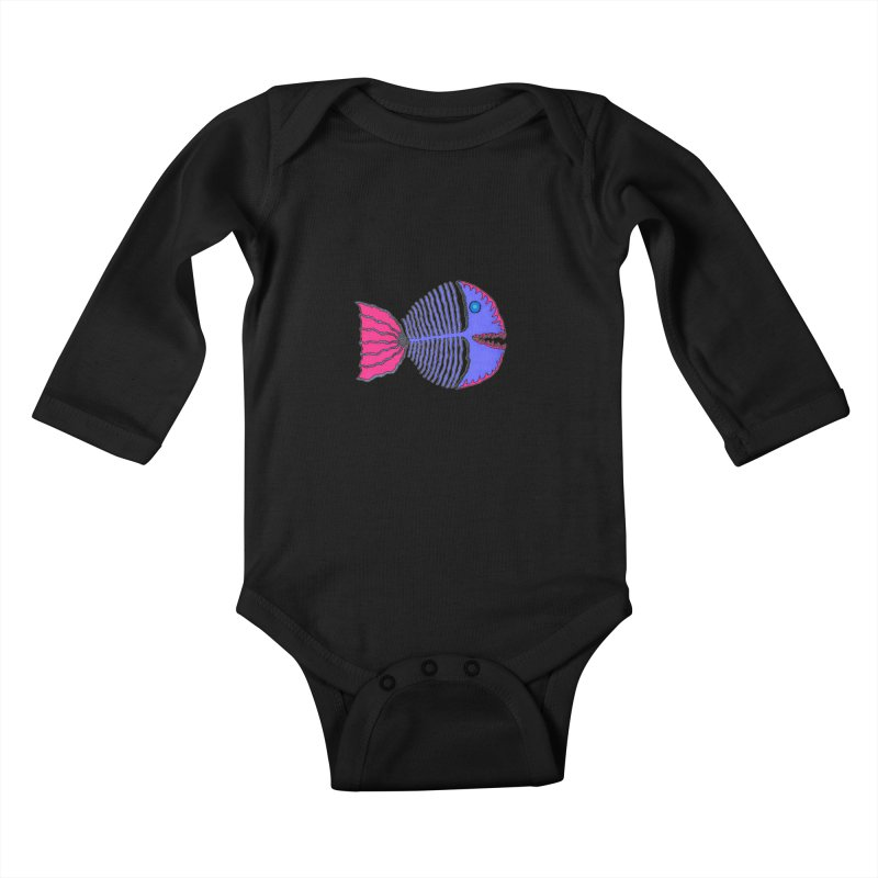 BoneFish Kids Baby Longsleeve Bodysuit by Baston's T-Shirt Emporium!