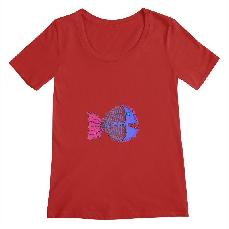 BoneFish Women's Scoopneck by Baston's T-Shirt Emporium!