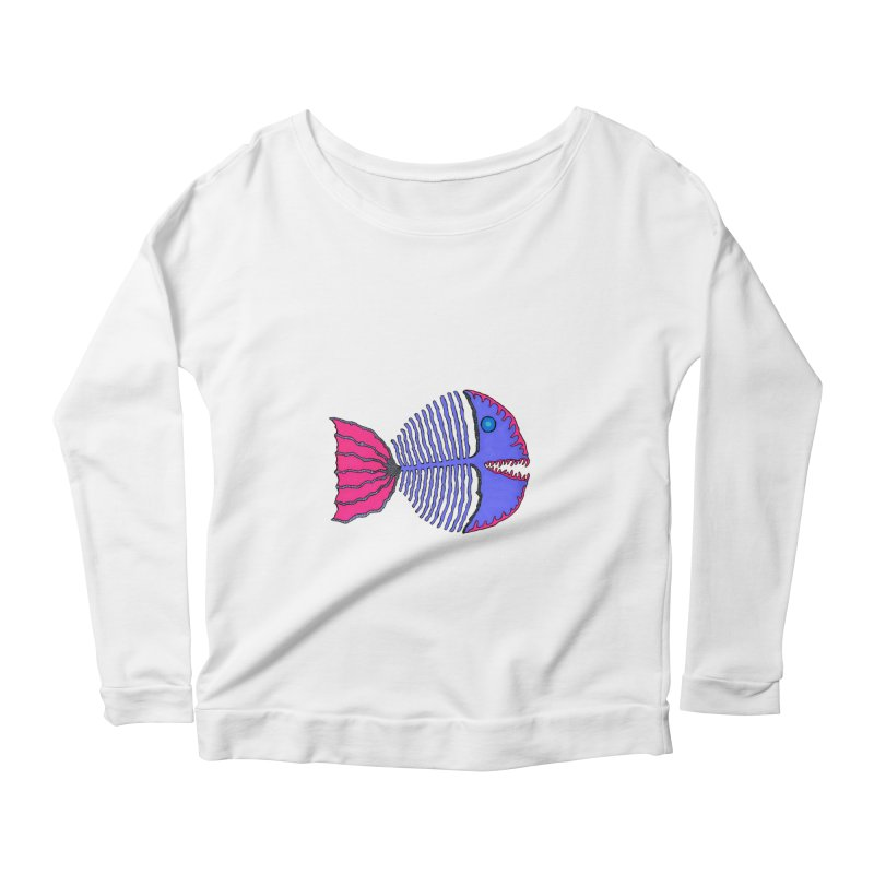 BoneFish Women's Longsleeve Scoopneck  by Baston's T-Shirt Emporium!