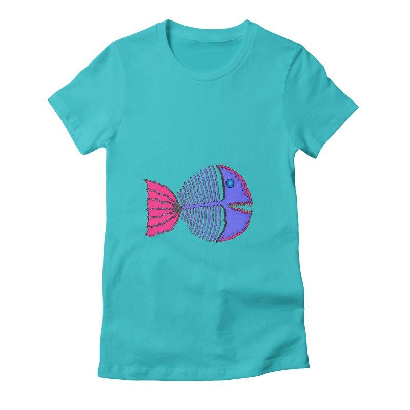 BoneFish Women's Fitted T-Shirt by Baston's T-Shirt Emporium!