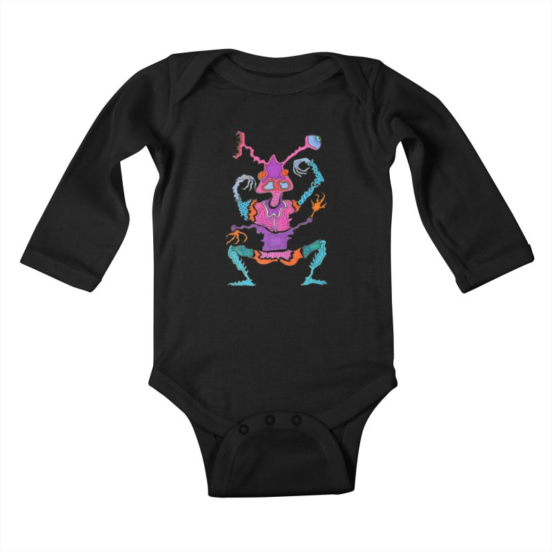 Alien! Kids Baby Longsleeve Bodysuit by Baston's T-Shirt Emporium!