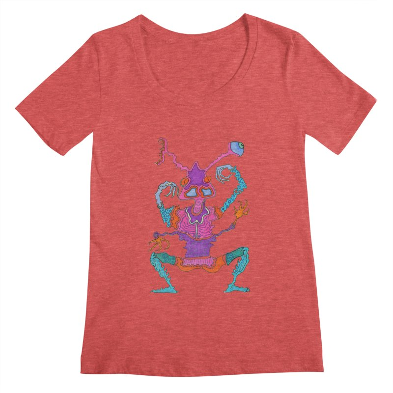 Alien! Women's Scoopneck by Baston's T-Shirt Emporium!