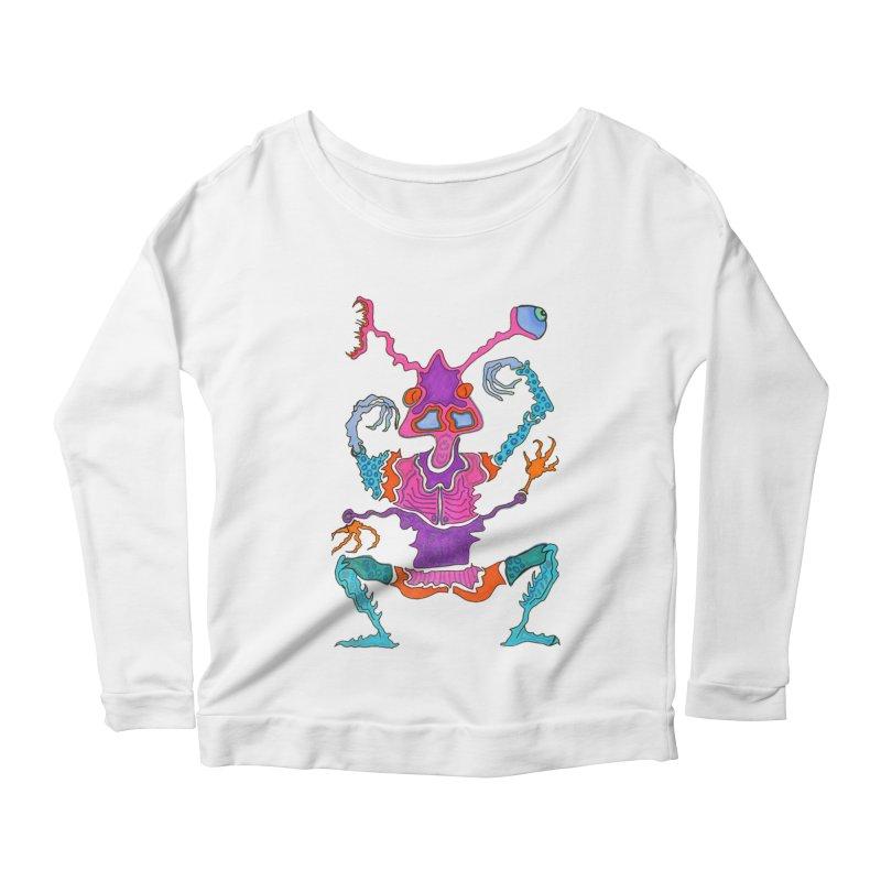 Alien! Women's Longsleeve Scoopneck  by Baston's T-Shirt Emporium!