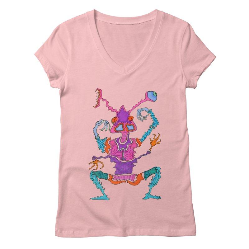 Alien! Women's V-Neck by Baston's T-Shirt Emporium!