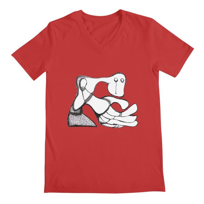 Tear Drop Men's V-Neck by Baston's T-Shirt Emporium!