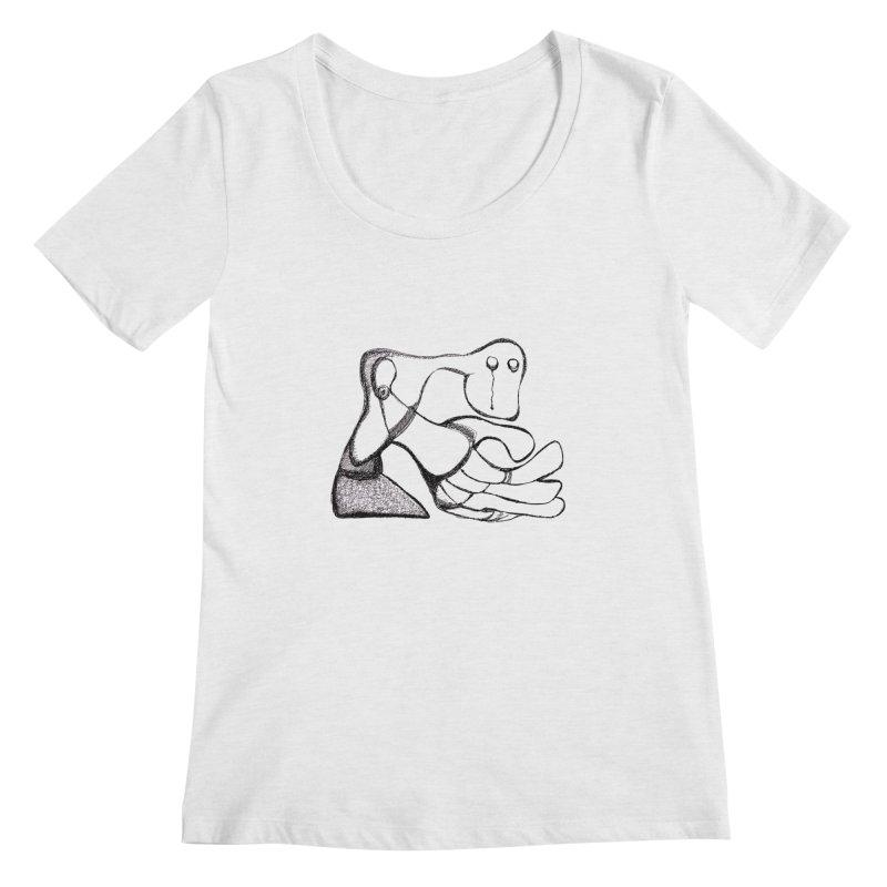 Tear Drop Women's Scoopneck by Baston's T-Shirt Emporium!