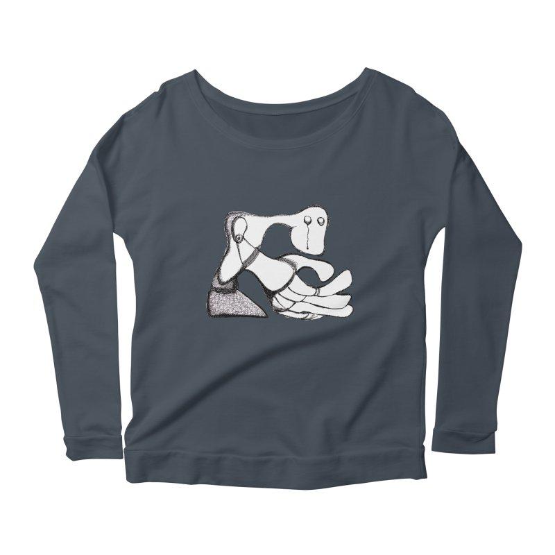 Tear Drop Women's Longsleeve Scoopneck  by Baston's T-Shirt Emporium!