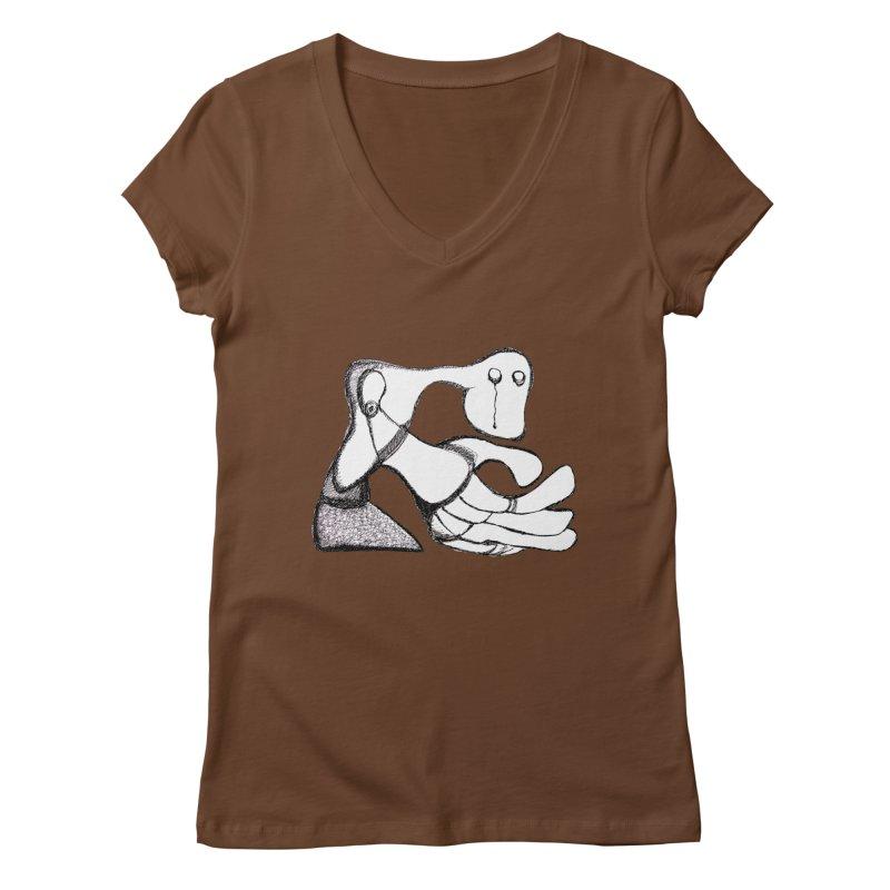 Tear Drop Women's V-Neck by Baston's T-Shirt Emporium!