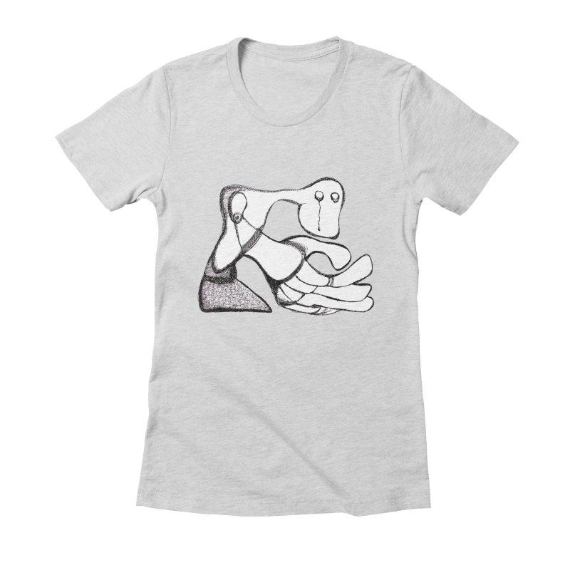 Tear Drop Women's Fitted T-Shirt by Baston's T-Shirt Emporium!