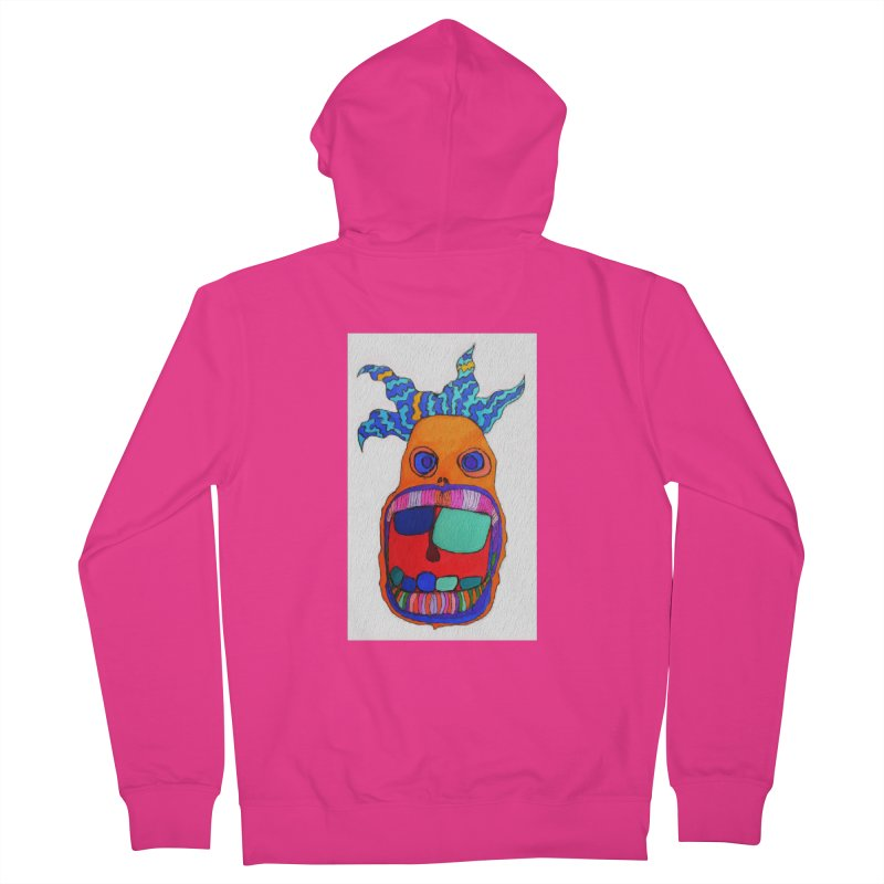 Wild Multicolored Wally! Men's Zip-Up Hoody by Baston's T-Shirt Emporium!