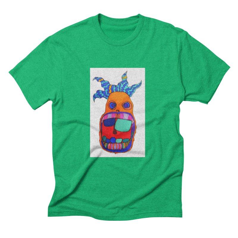 Wild Multicolored Wally! Men's Triblend T-shirt by Baston's T-Shirt Emporium!