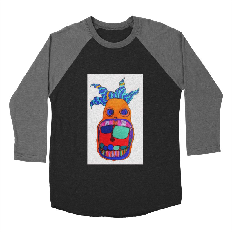 Wild Multicolored Wally! Women's Baseball Triblend Longsleeve T-Shirt by Baston's T-Shirt Emporium!