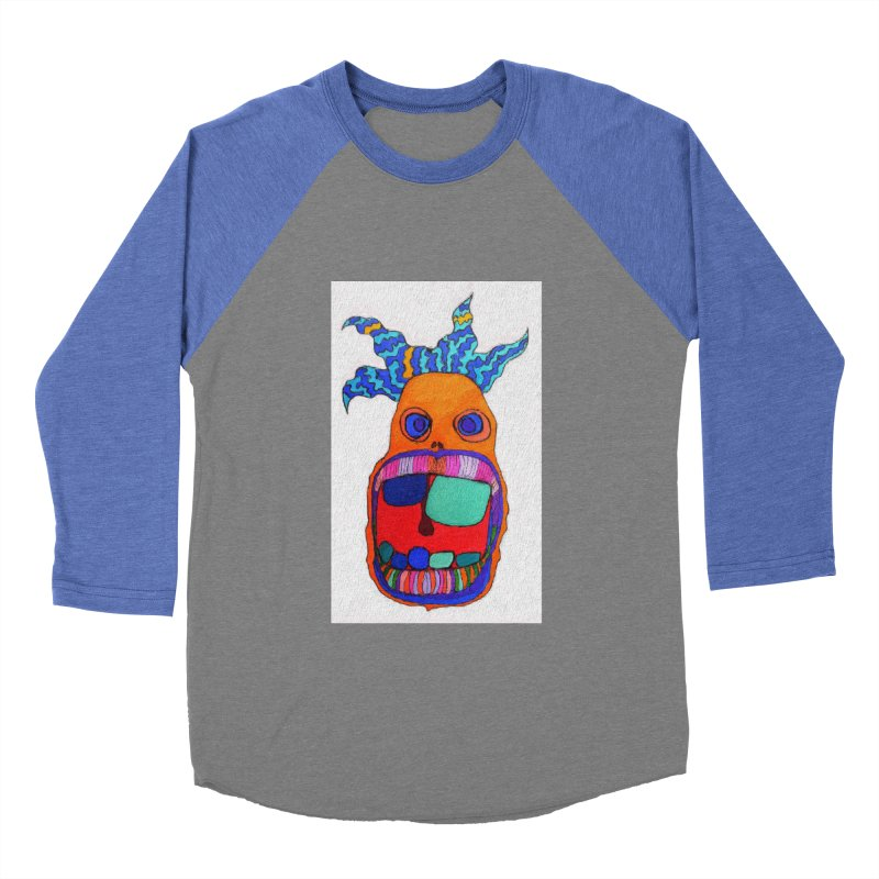 Wild Multicolored Wally! Men's Baseball Triblend T-Shirt by Baston's T-Shirt Emporium!
