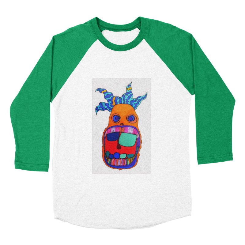 Wild Multicolored Wally! Men's Baseball Triblend T-Shirt by Baston's T-Shirt Emporium!