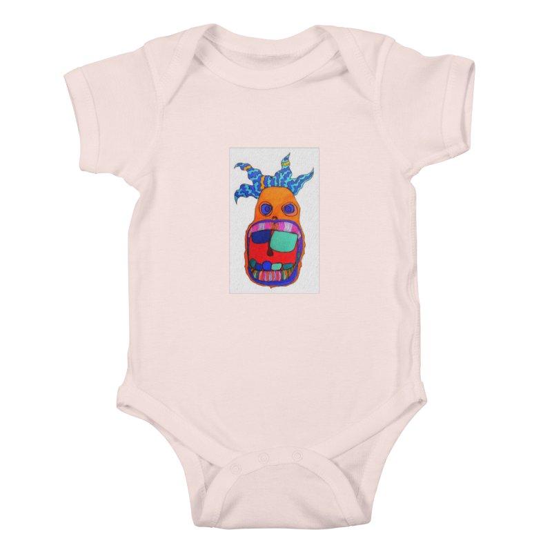 Wild Multicolored Wally! Kids Baby Bodysuit by Baston's T-Shirt Emporium!
