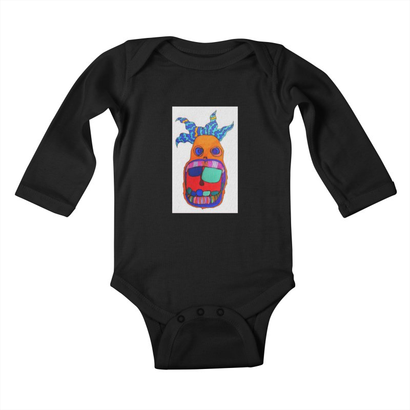Wild Multicolored Wally! Kids Baby Longsleeve Bodysuit by Baston's T-Shirt Emporium!