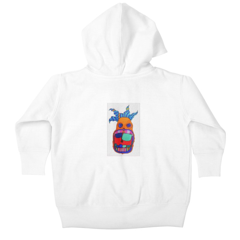 Wild Multicolored Wally! Kids Baby Zip-Up Hoody by Baston's T-Shirt Emporium!