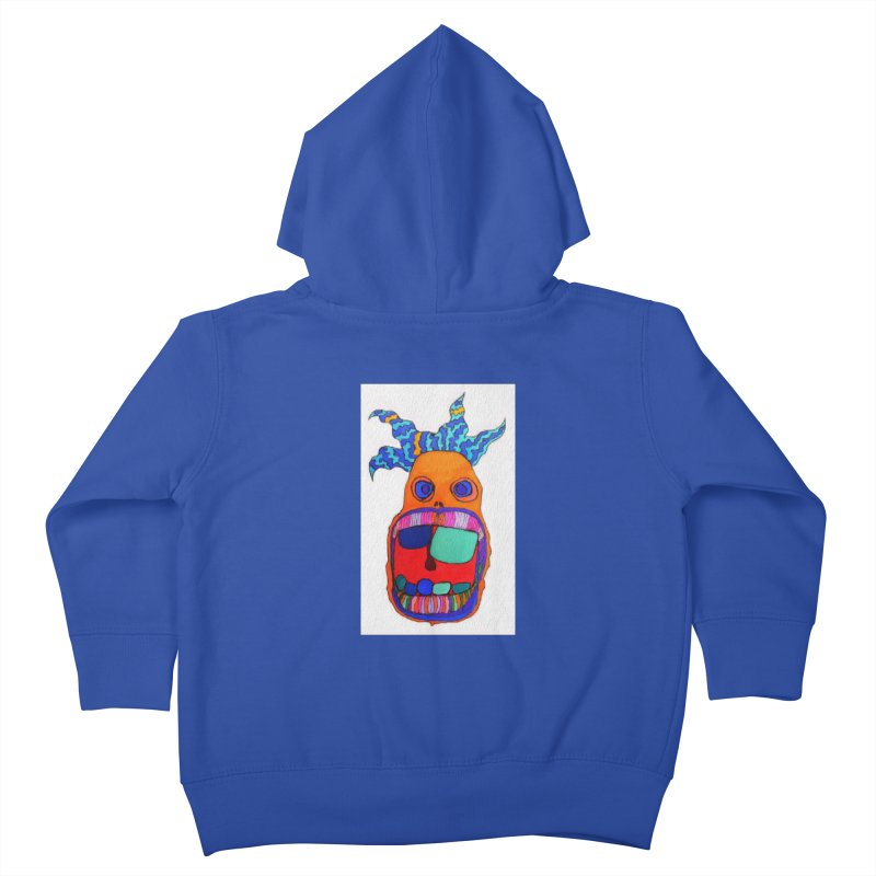 Wild Multicolored Wally! Kids Toddler Zip-Up Hoody by Baston's T-Shirt Emporium!