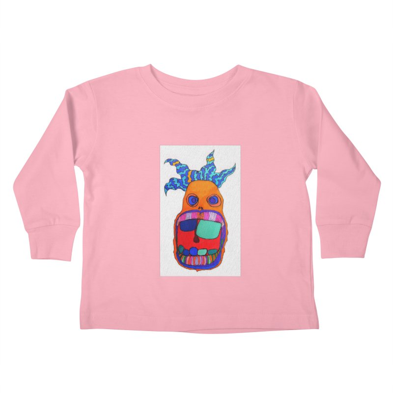 Wild Multicolored Wally! Kids Toddler Longsleeve T-Shirt by Baston's T-Shirt Emporium!