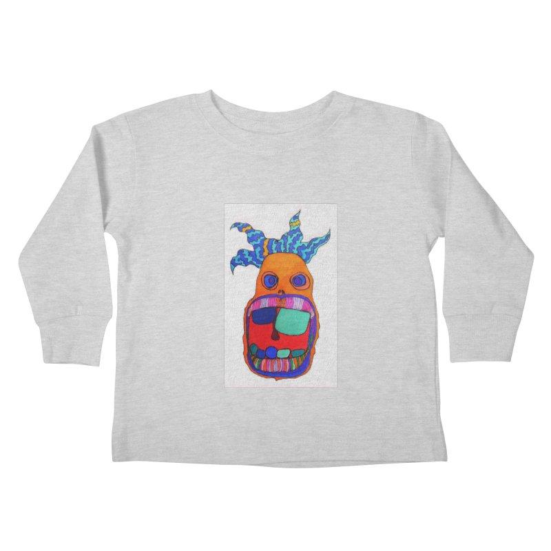 Wild Multicolored Wally! Kids Toddler Longsleeve T-Shirt by Baston's T-Shirt Emporium!