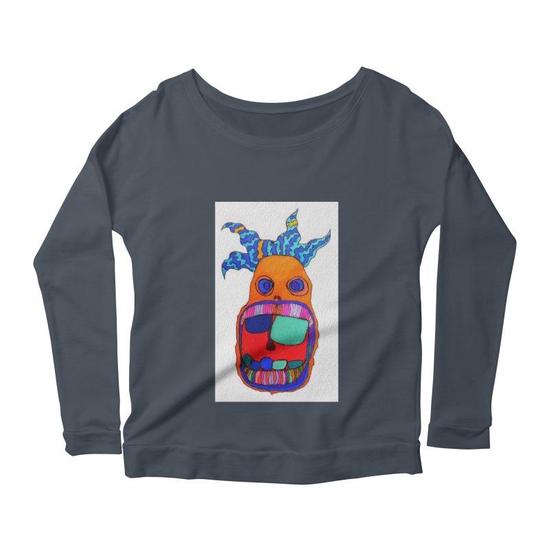 Wild Multicolored Wally! Women's Longsleeve Scoopneck  by Baston's T-Shirt Emporium!