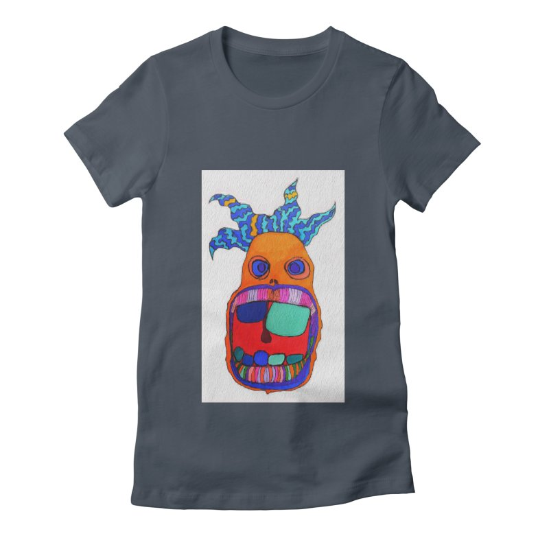 Wild Multicolored Wally! Women's Fitted T-Shirt by Baston's T-Shirt Emporium!