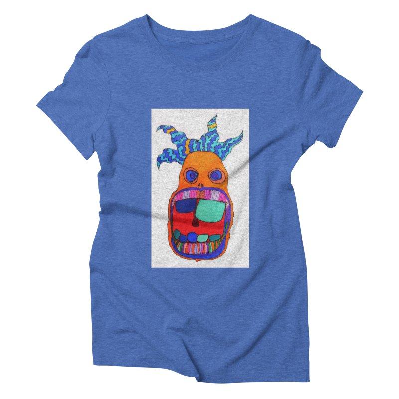 Wild Multicolored Wally! Women's Triblend T-shirt by Baston's T-Shirt Emporium!
