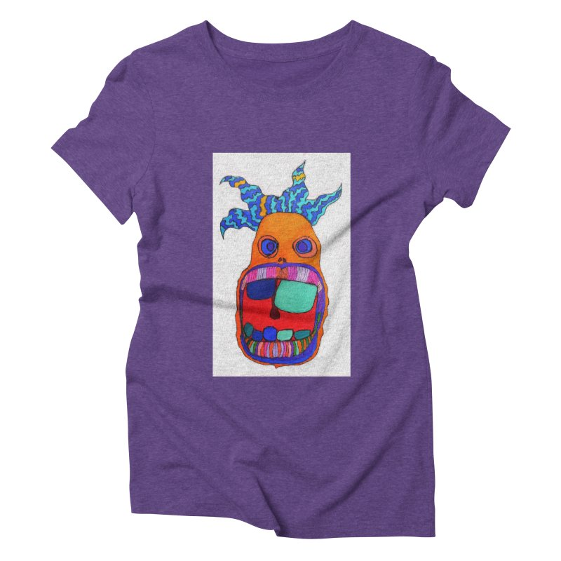 Wild Multicolored Wally! Women's Triblend T-shirt by Baston's T-Shirt Emporium!