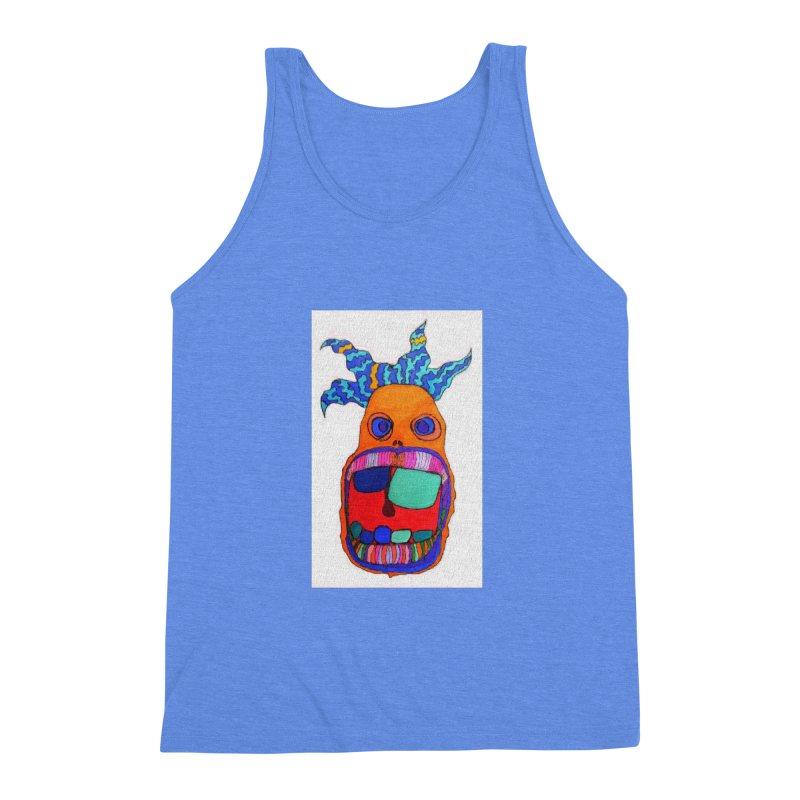 Wild Multicolored Wally! Men's Triblend Tank by Baston's T-Shirt Emporium!
