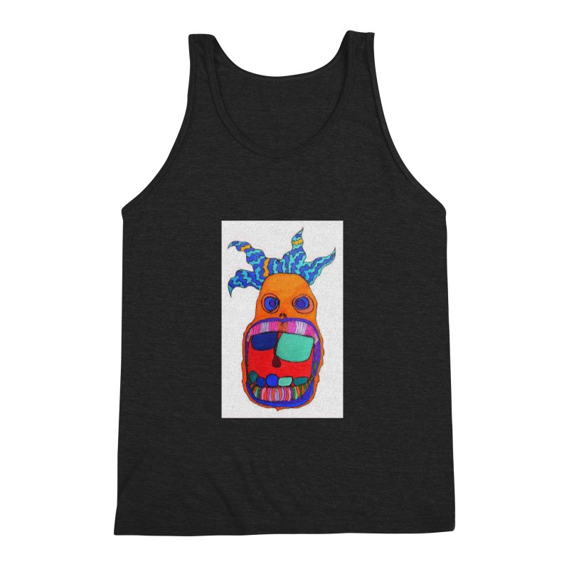 Wild Multicolored Wally! Men's Triblend Tank by Baston's T-Shirt Emporium!