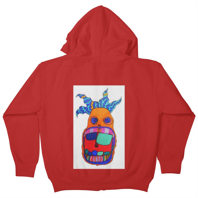 Wild Multicolored Wally! Kids Zip-Up Hoody by Baston's T-Shirt Emporium!