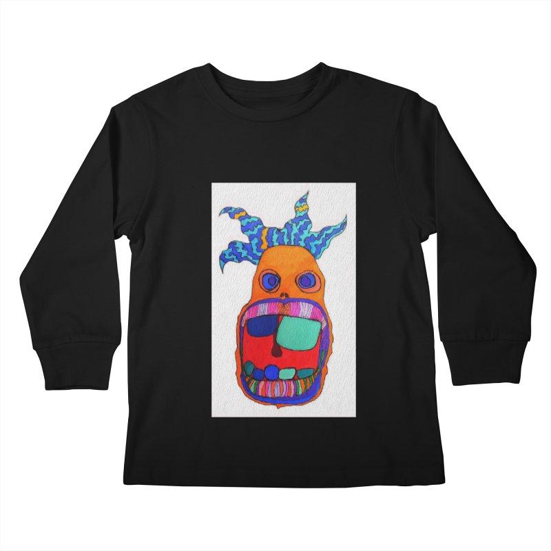 Wild Multicolored Wally! Kids Longsleeve T-Shirt by Baston's T-Shirt Emporium!